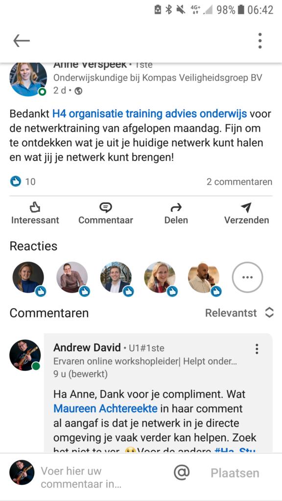Hastu-studenten-LinkedIn online workshop netwerken studenten